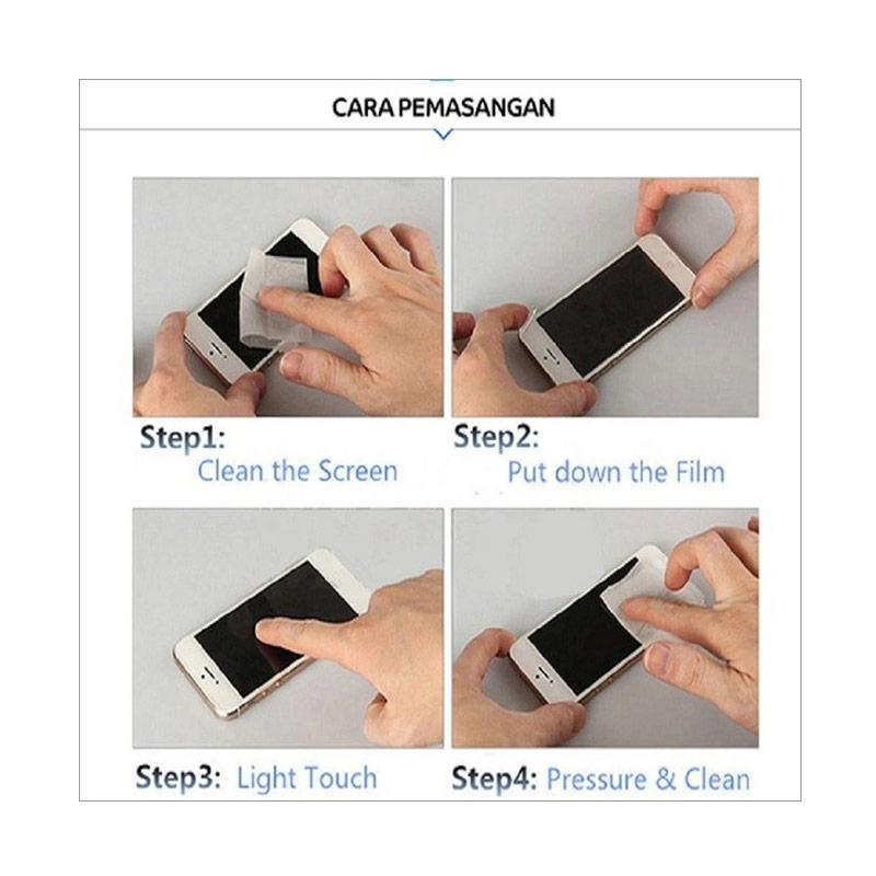 Jual Zeus 2in1 Premium Tempered Glass Screen Protector for iPhone 5 or 5S .