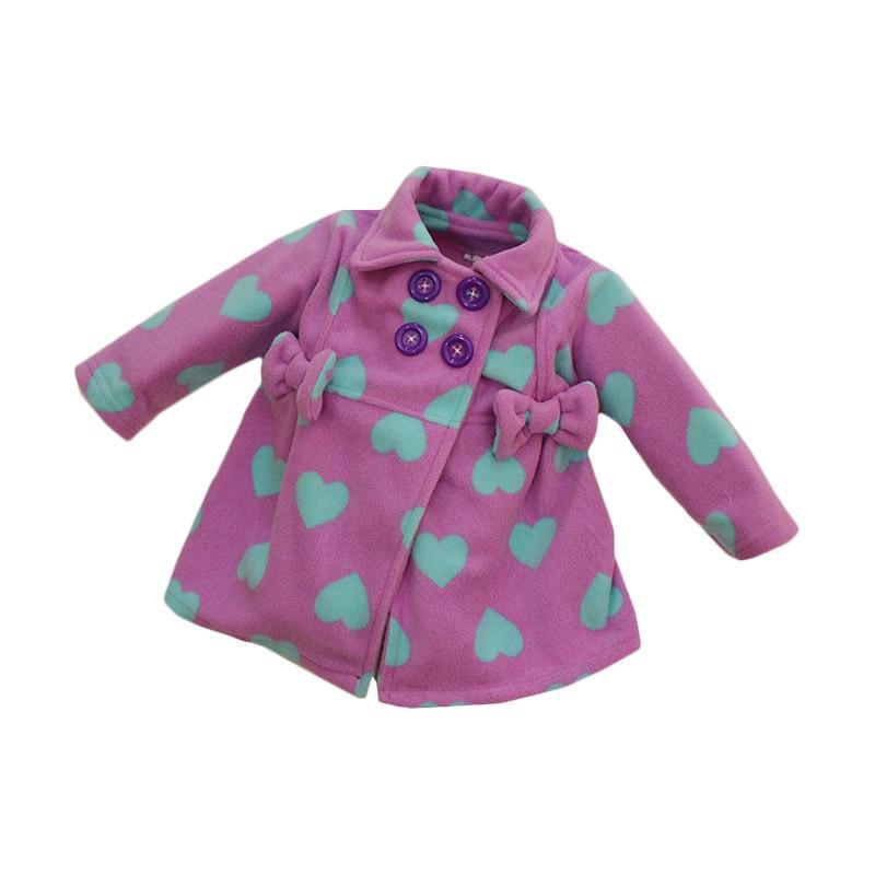 Bibbo Baby Blazer Love Purple Jaket Bayi Perempuan