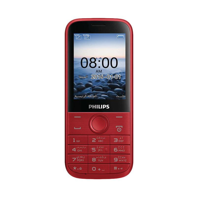 Philips E160 Handphone - Red