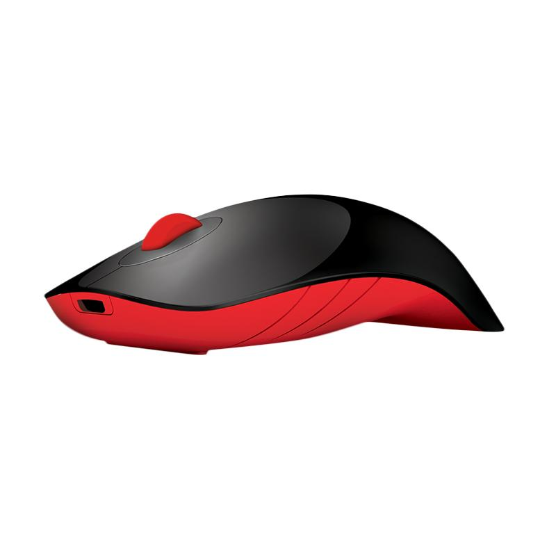 Alcatroz Charge Air Shark Wireless Mouse - Hitam Merah