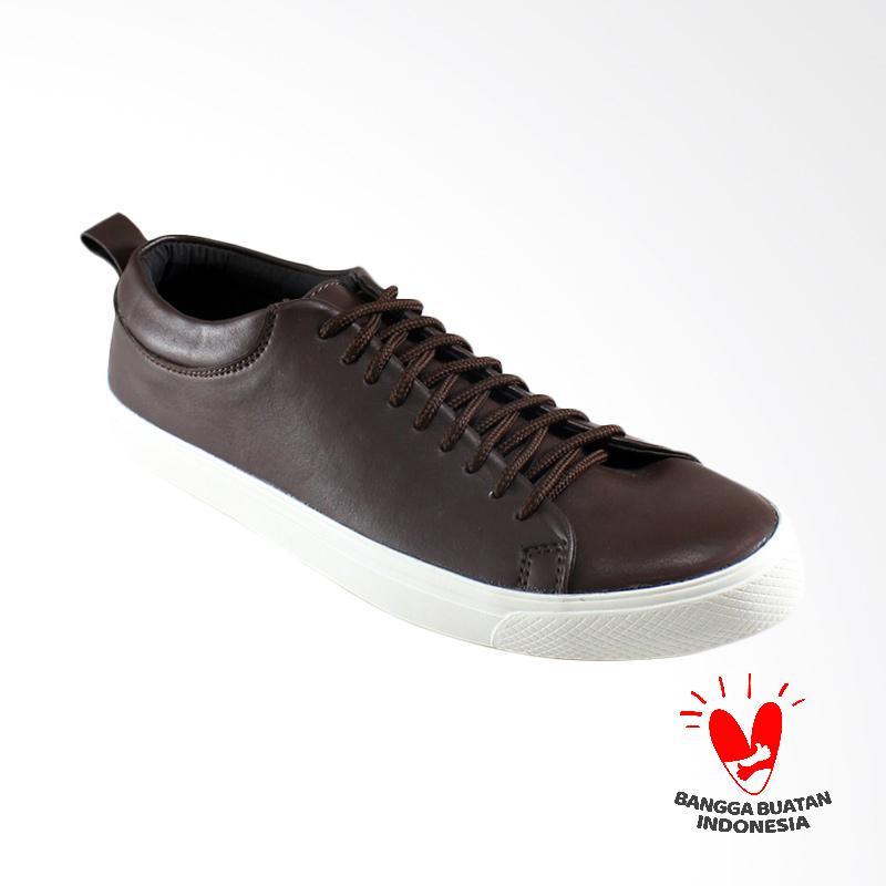 Dane And Dine Bleka Low Sepatu Pria - Brown