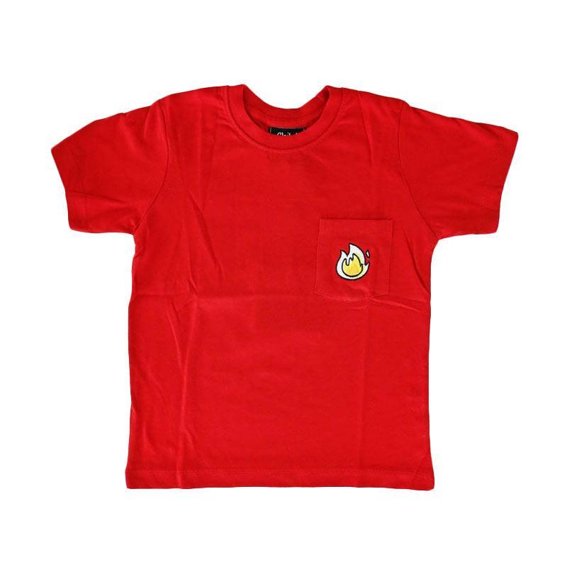 Childhood Apparel Stop Drop Roll Pocket Tee Atasan Anak Laki-Laki - Red