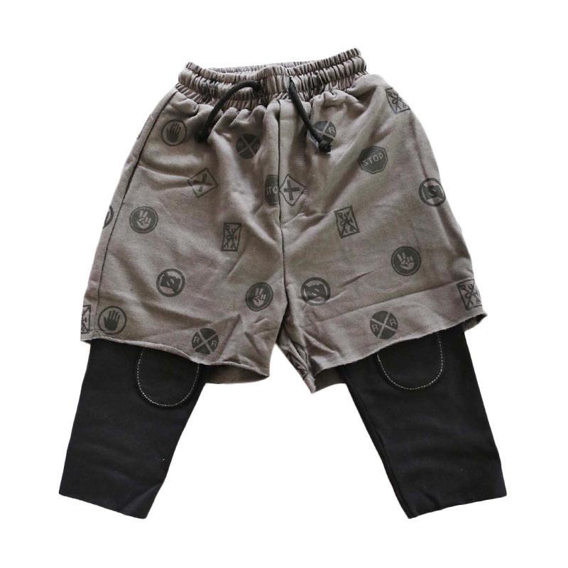 Childhood Apparel Warning Pants Leggings Celana Anak - Grey