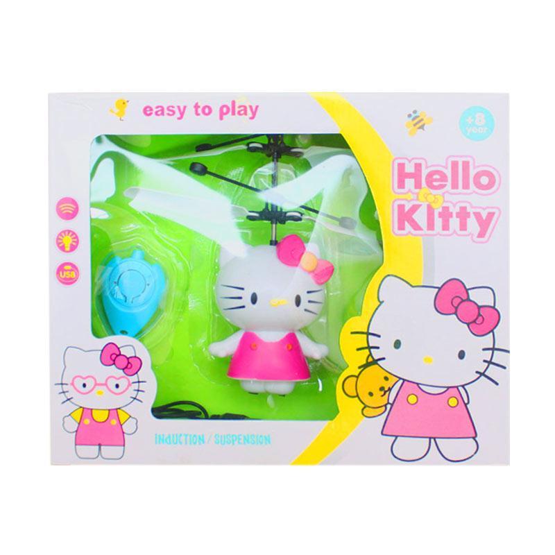 Istana kado IKO00813 Flying Hello kitty Mainan helicopter mini - Pink