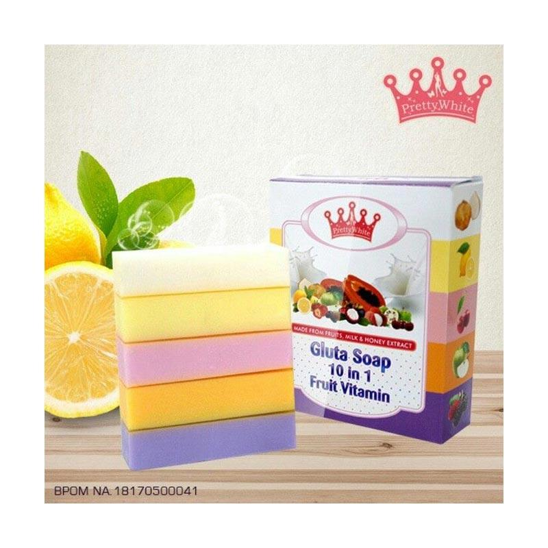 Pretty White Gluta Fruitamin Soap Sabun Mandi