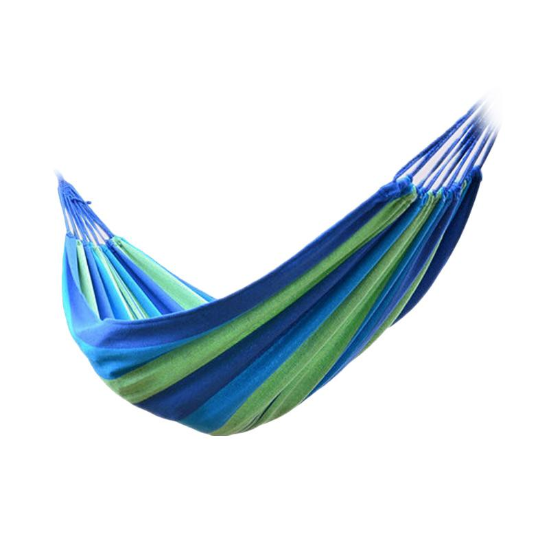 OEM Folding Outdoor Hammock Tempat Tidur Gantung - Blue [180 x 100 cm]