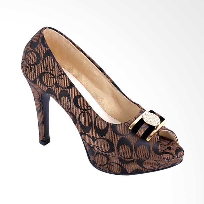 Garucci GGN 4241 High Heels Sepatu Wanita - Brown