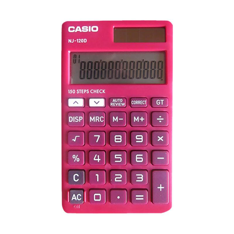 harga CASIO C-NJ-120 DRD Calculator Blibli.com