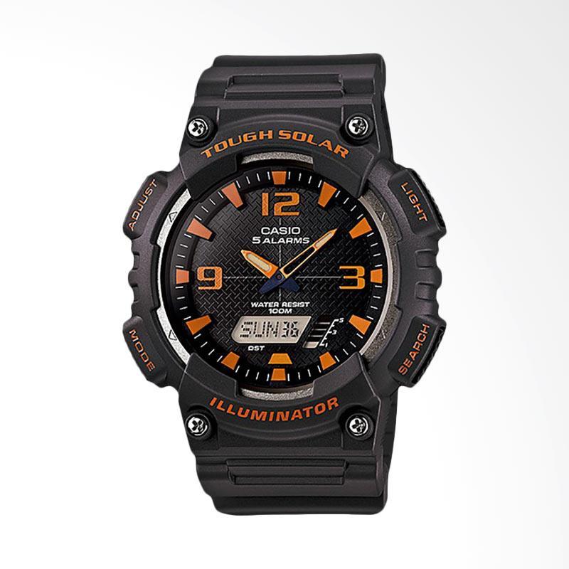 CASIO Jam Tangan Pria - Black Orange AQ-S810W-8AVDF