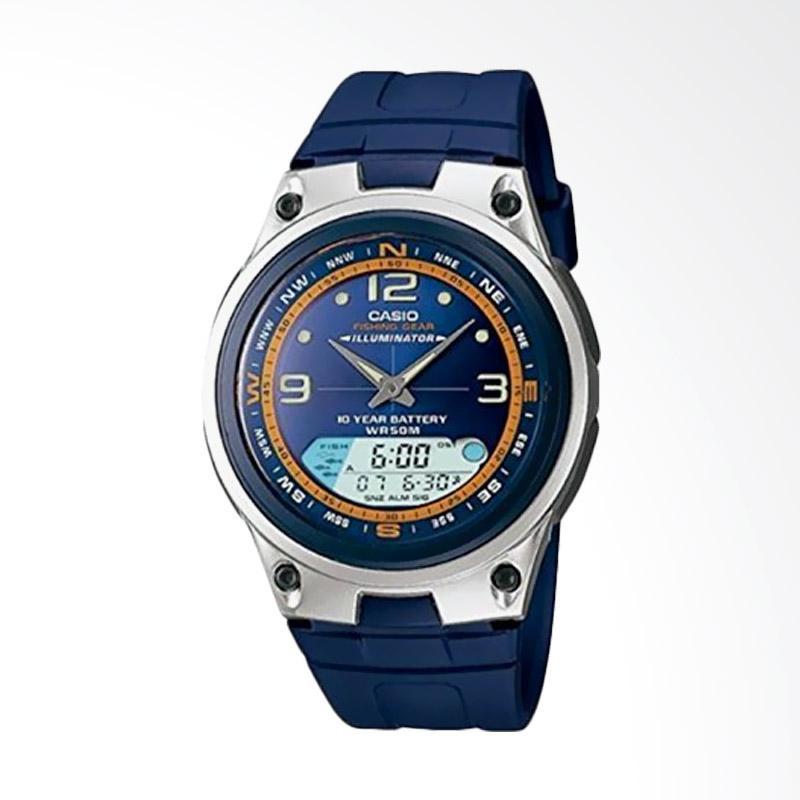 CASIO Jam Tangan Pria - Blue Silver AW-82-2AVDF