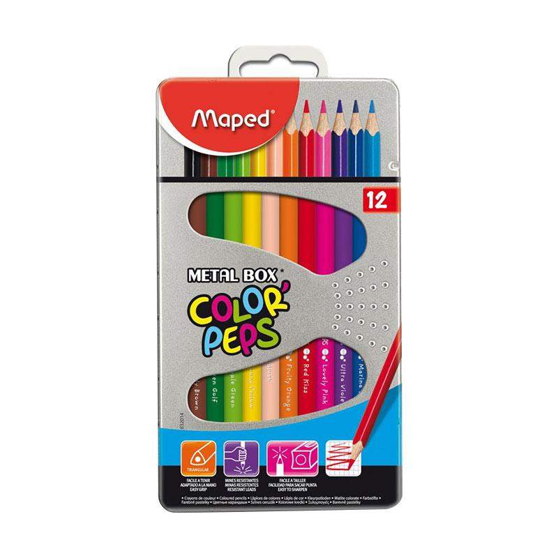 Maped Color Pep's Metal Box Set Pensil Warna [12 pcs]
