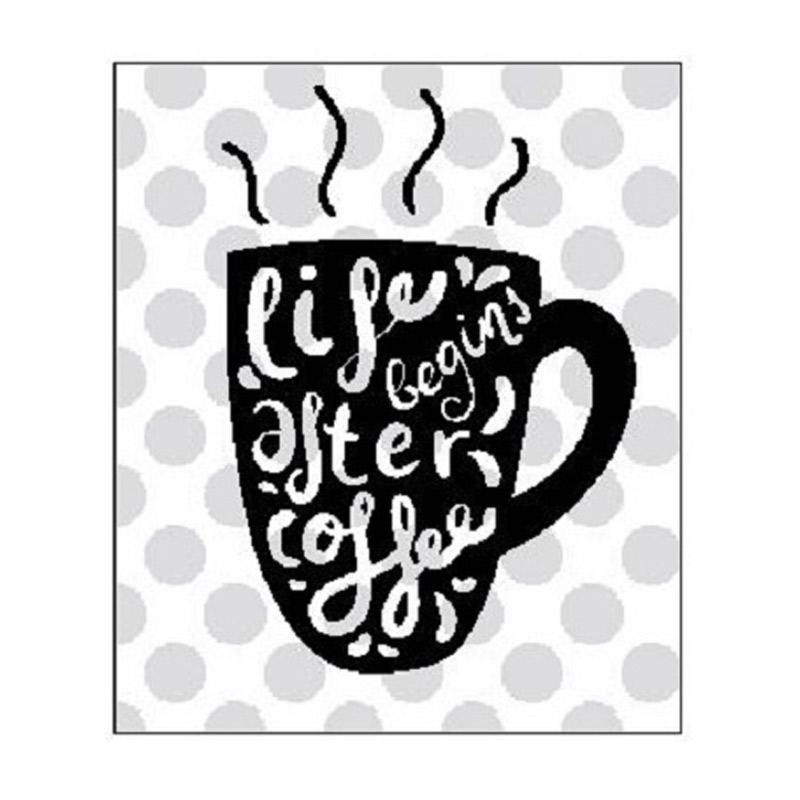 OEM Cafe Quotes Life Begin Cutting Sticker Dekorasi Dinding