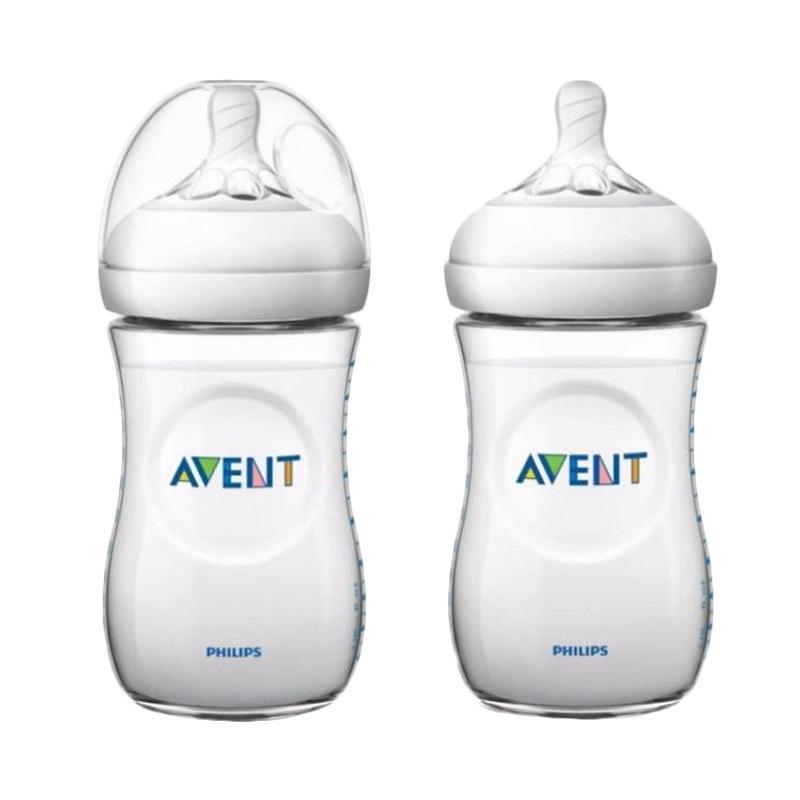 Avent Natural Bottle New Design Botol Susu - White [260 mL/Isi 2]