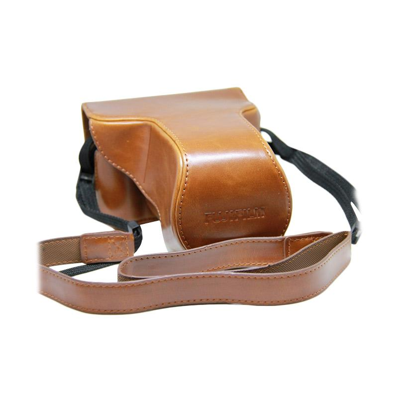 Fujifilm Leather Case Holster with Fujifilm Logo for X-A3 and X-A10 - Brown