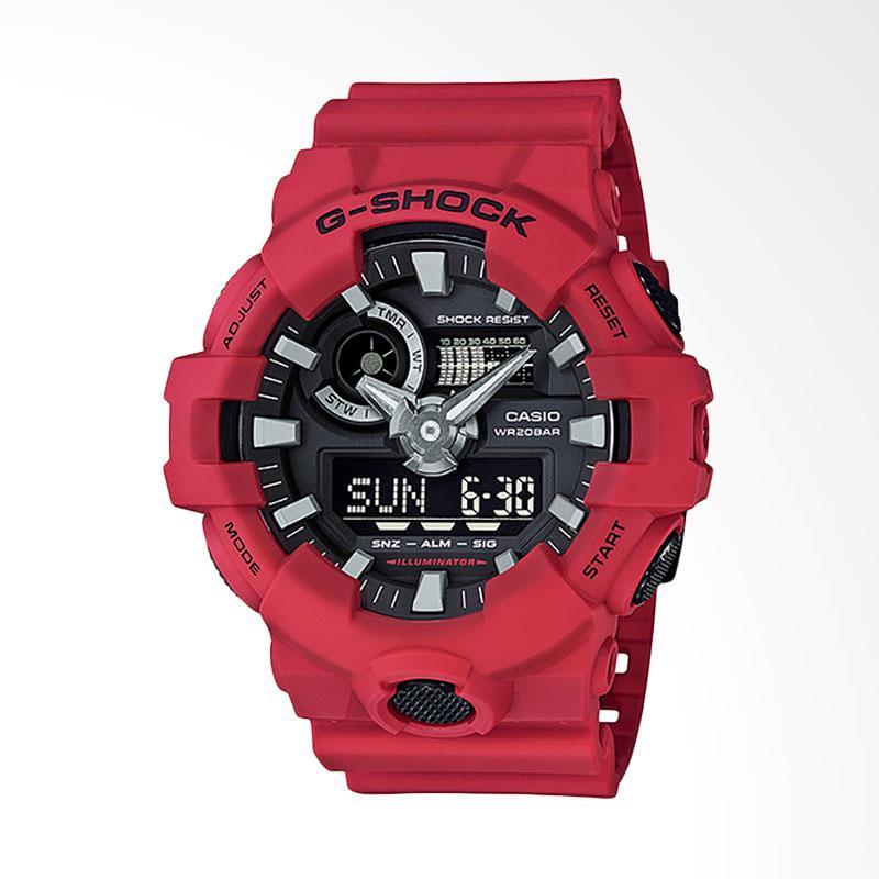 CASIO G-Shock Jam Tangan Pria - Black Red GA-700-4AJF