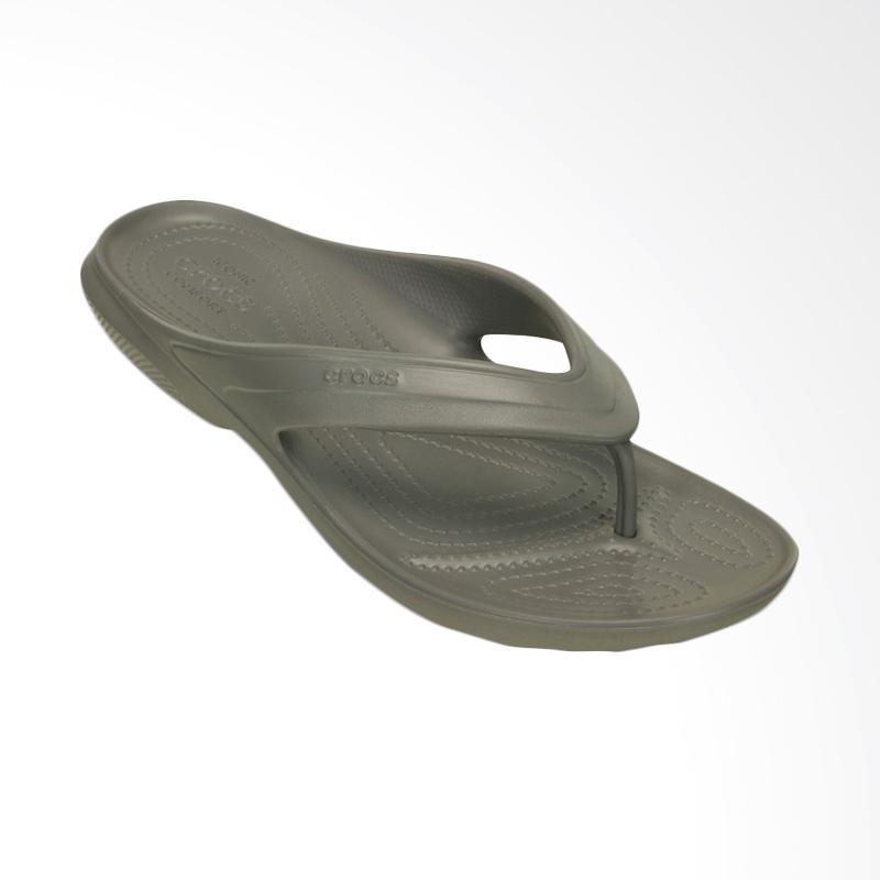 Crocs Classic Flip Unisex Sandal Jepit Pria - Smoke Pria 202635019
