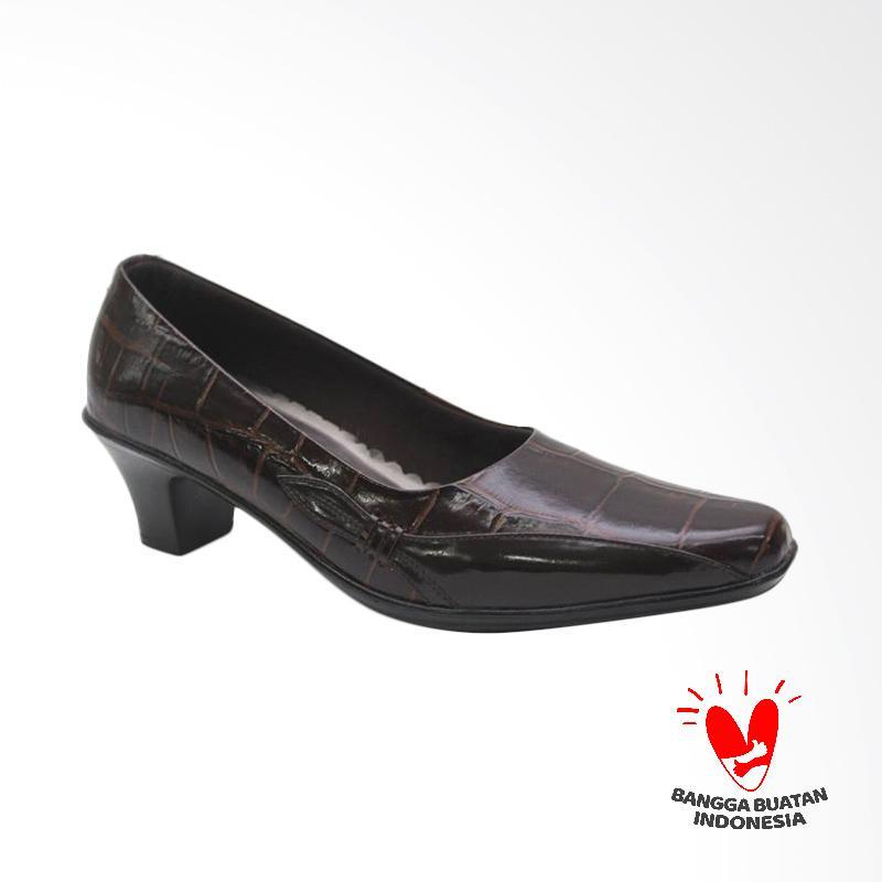 GRUTTY GR 82005 Sepatu Heels Wanita - Maroon Black