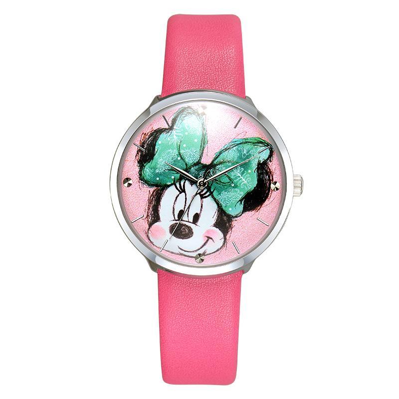 Disney MS11067-J Minnie Jam Tangan Wanita - Hot Pink