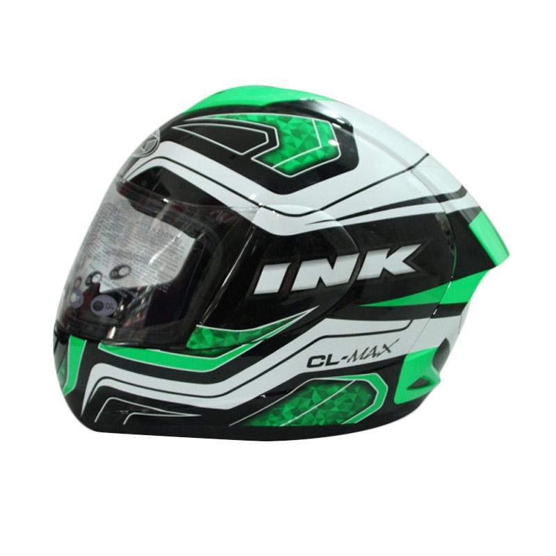 harga Helm Full Face INK CL-Max #5 - Black/White/Green Fluo Blibli.com