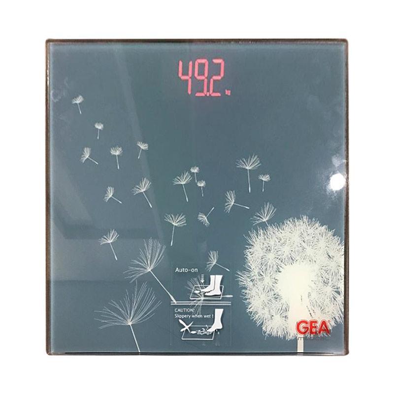 GEA EB9370 Timbangan Digital - Biru Motif Bunga Putih