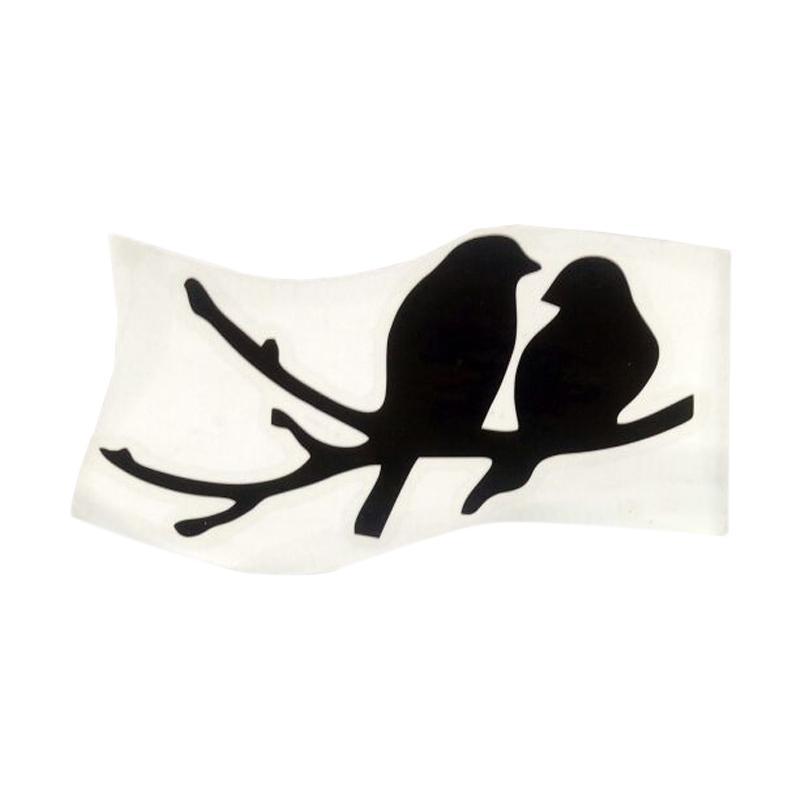 OEM Motif Little Owl Dekorasi Tombol Lampu Saklar Wall Sticker - Hitam