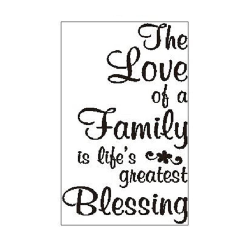 OEM Love Family Quotes Wall Sticker Dekorasi Dinding