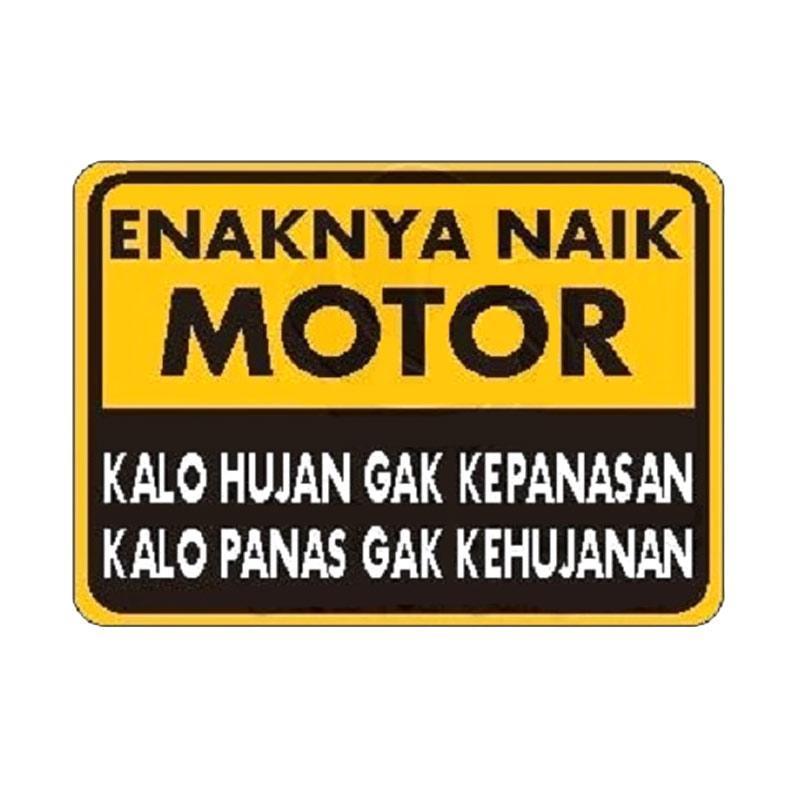 OEM Motif Kata Enaknya Naik Motor Sticker