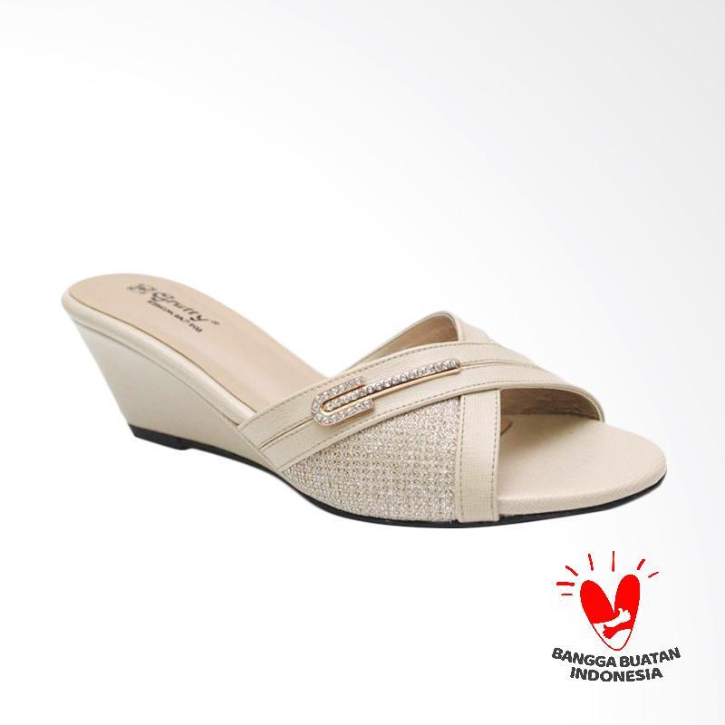 Grutty GR 82098 Sandal Wedges Wanita - Cream