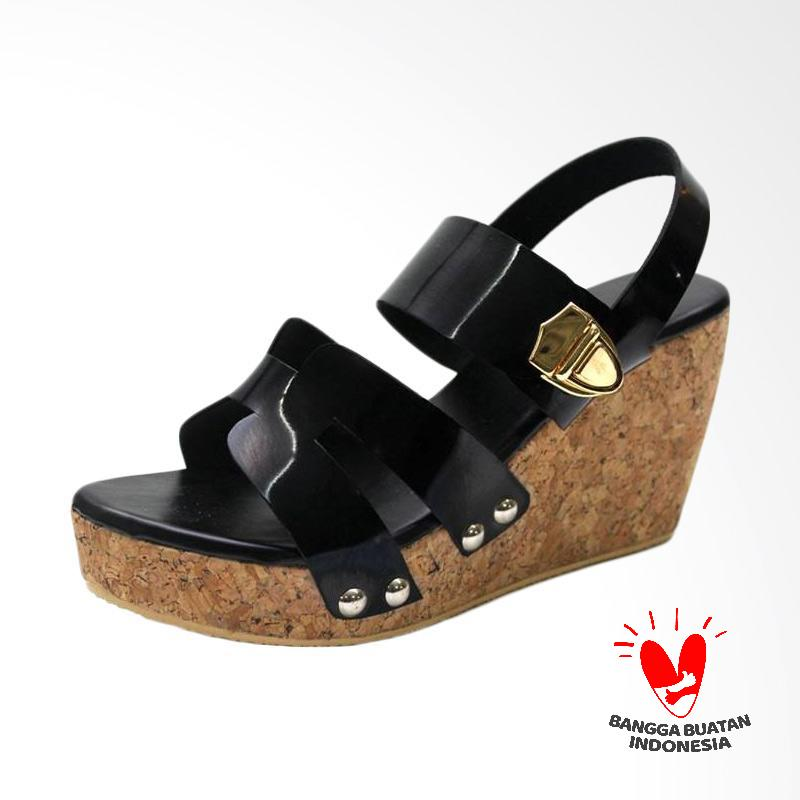Grutty GR 82122 Sandal Wedges Wanita - Hitam