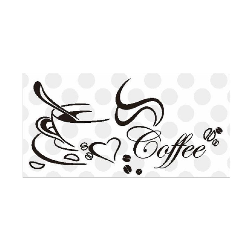OEM Coffee Cafe Wall Stiker Dekorasi Dinding