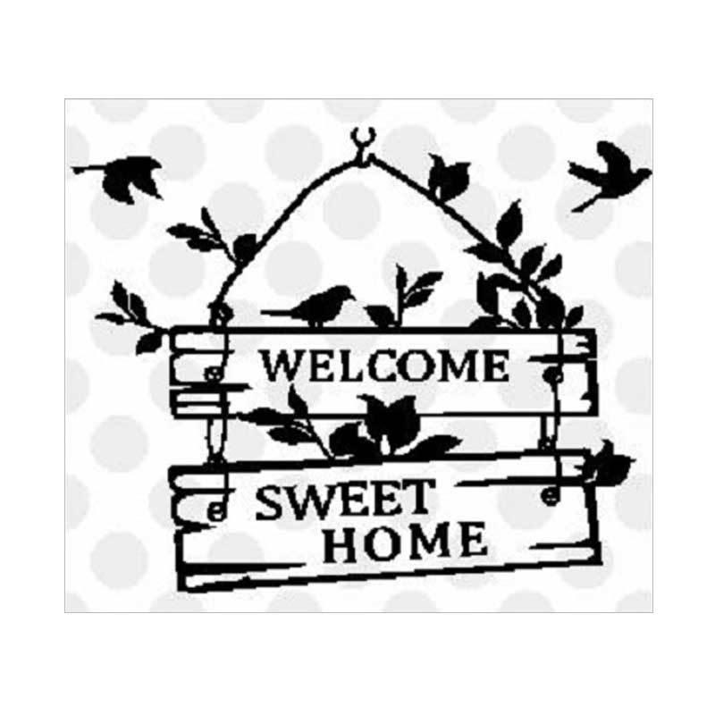 OEM Welcome Wall Decal Stiker Dekorasi Dinding