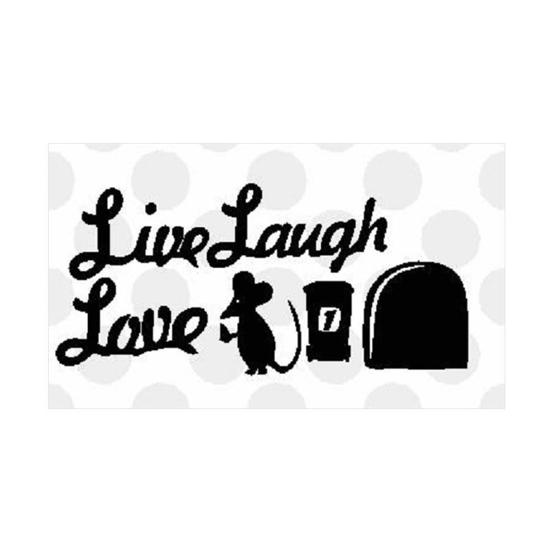 OEM Tikus Live Laugh Love Laptop Decal Closet Wall Sticker Dekorasi Dinding