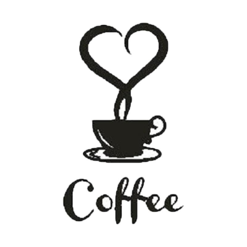 OEM Cup Of Coffee Wall Sticker Dekorasi Dinding
