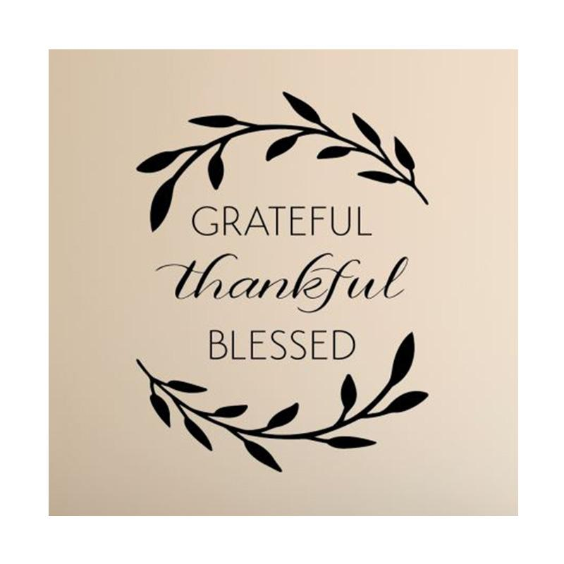 Wall Sticker Grateful Thankful Blessed Hiasan Dinding Cutting Stiker