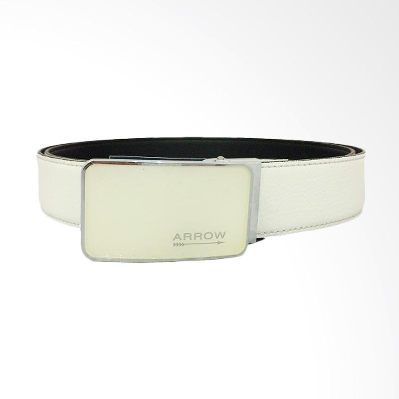 Arrow Leather Belt Ikat Pinggang Pria - White [110 cm] BP-AR2260FCSA15-B30177004