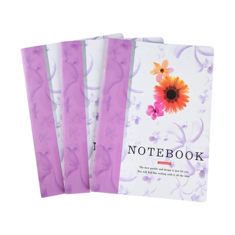 Karisma Set Buku Tulis Jepang A5 Note Book Maxleaf Bunga [70 gr/ 3 Pcs] - 748293