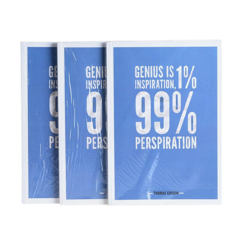 Karisma Exclusive Set Buku Tulis Genius Is Inspiration [A5/80 g/3 Pcs] - 744788