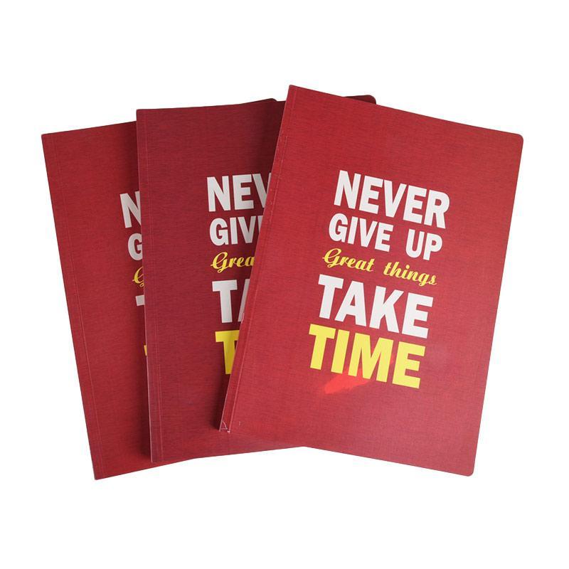 Karisma Exclusive Never Give Up Great Things Take Time Buku Tulis [3 Pcs/ B5/ 748601]