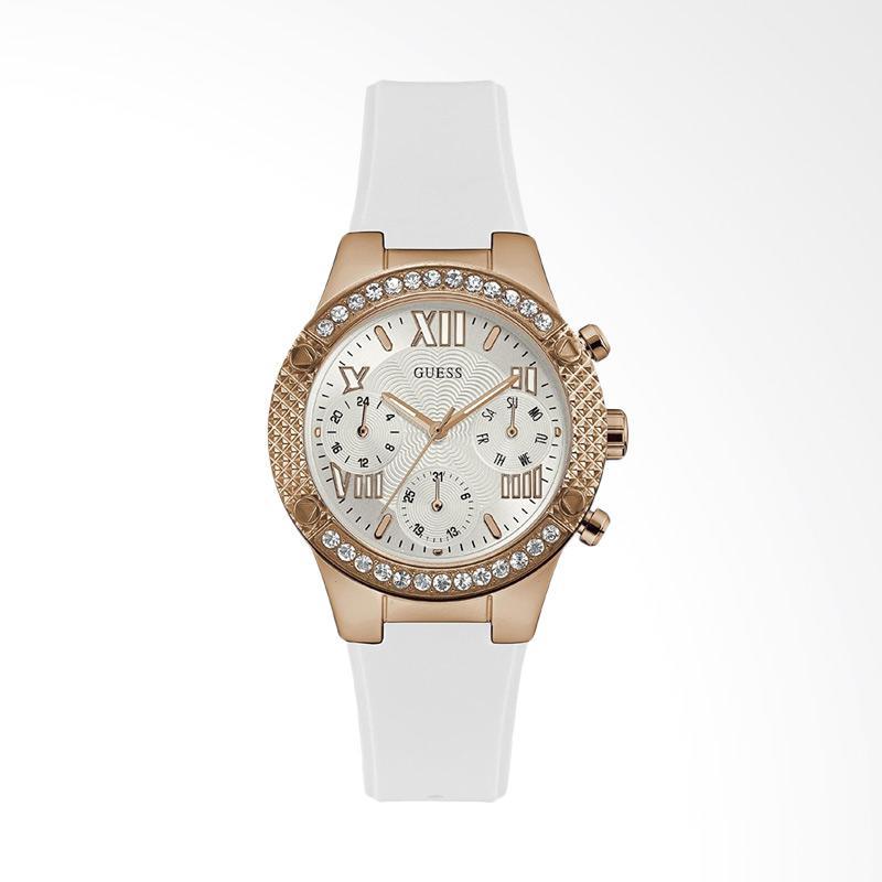Guess Multi Dial Tali Silikon Jam Tangan Wanita - Putih W0773L6