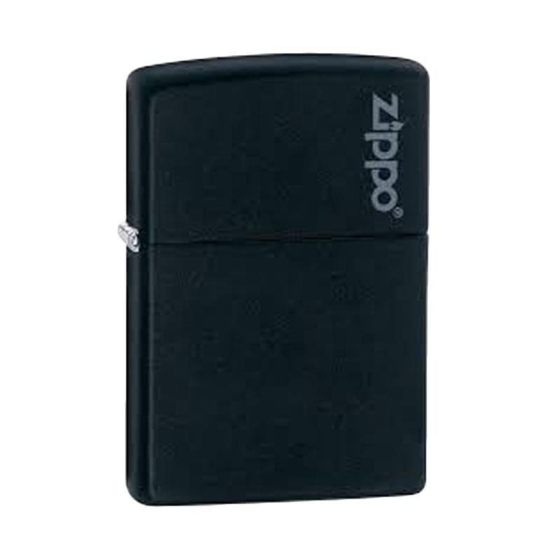 Zippo Logo Pocket Lighter - Black Matte