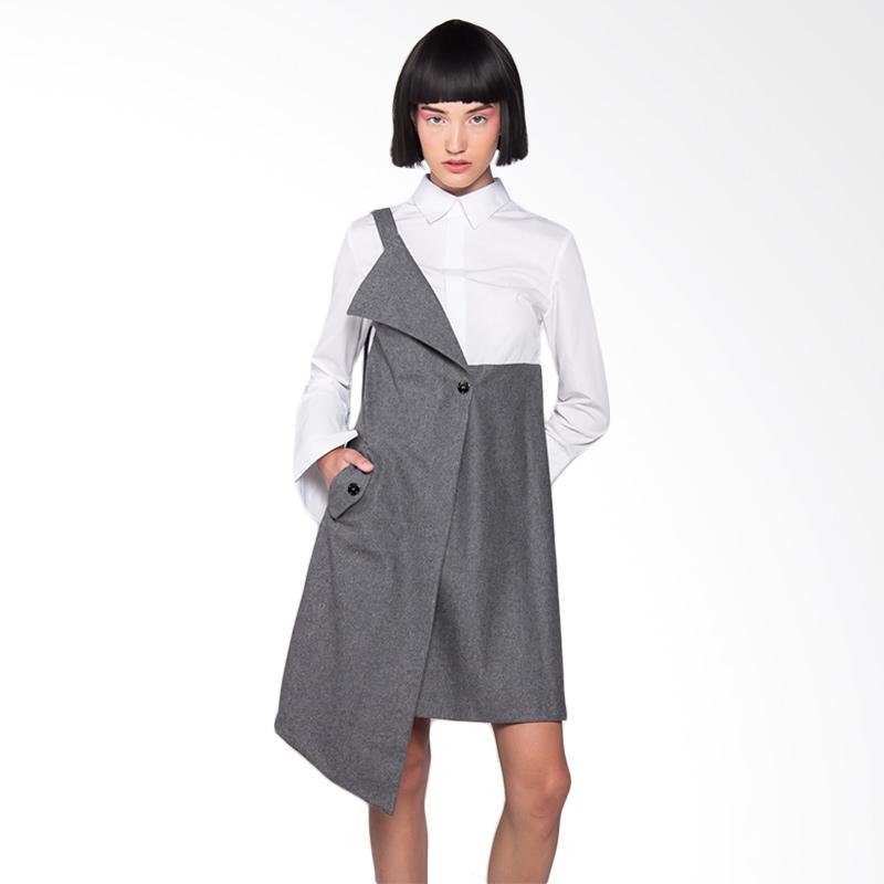 Hunting Fields DR003 Dorian Dress Wanita - Grey White