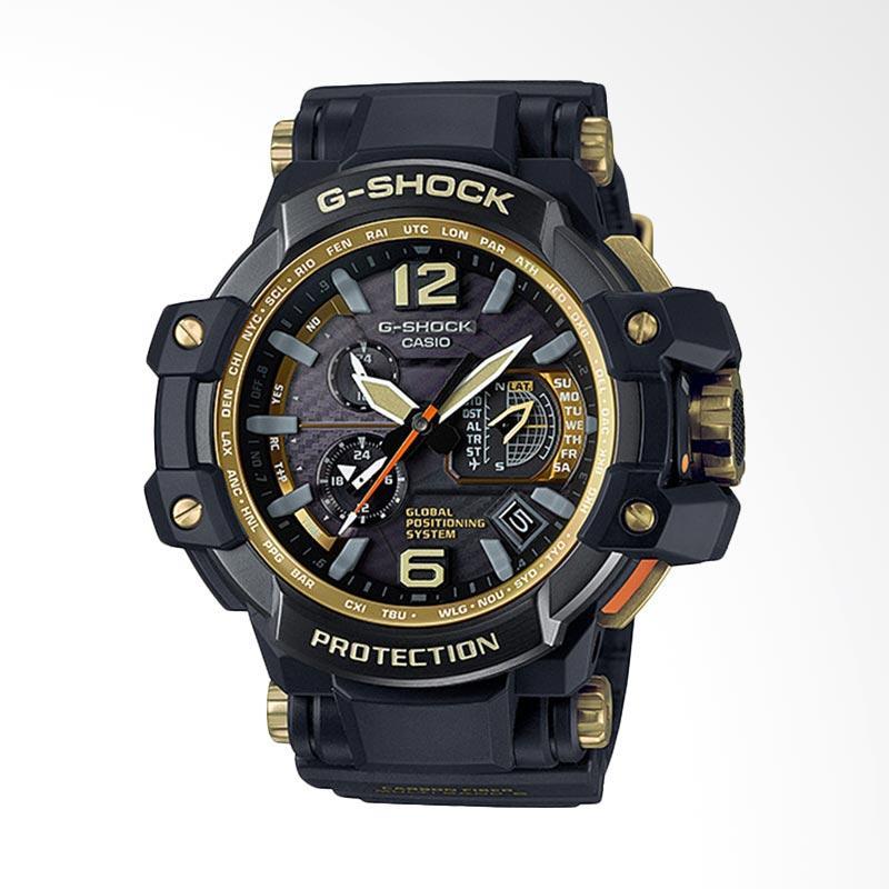 Casio G-Shock GPS Hybrid Wave Ceptor Gold Ion Plated Case Bezel Jam Tangan Pria GPW-1000GB-1ADR