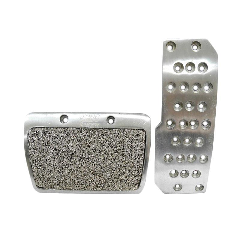 SIV Motif MUGEN AT Cover Pedal Pad Mobil Universal - Silver