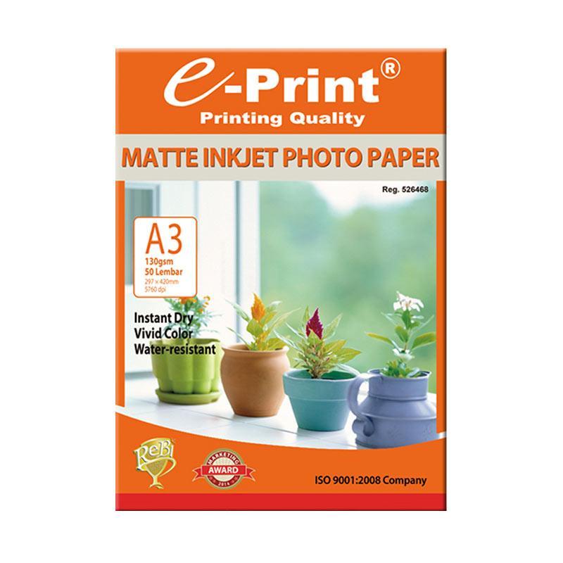 E-Print Inkjet Photo Paper A3 [130 gsm/50 Sheets]