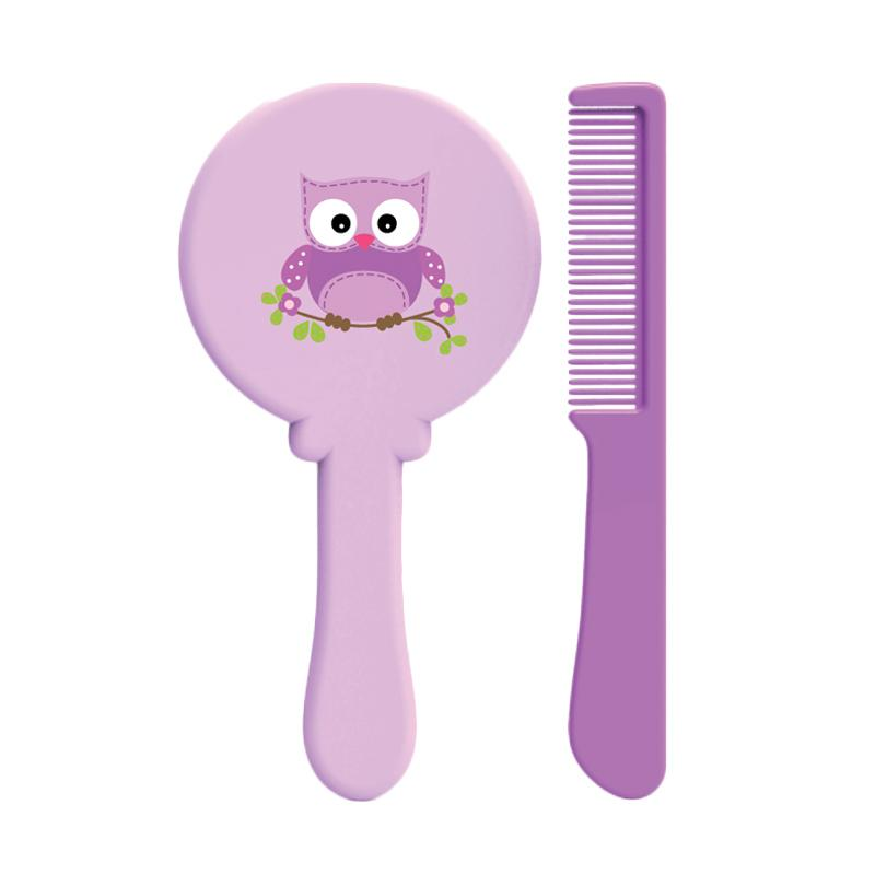 BabySafe DL1014 Brush and Comb Set Perlengkapan Bayi - Purple