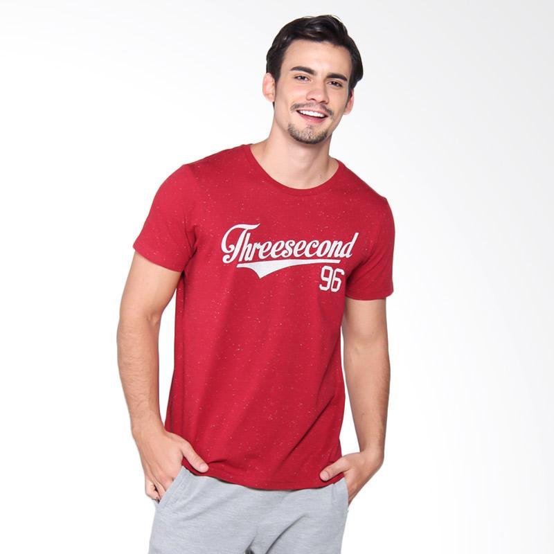 3Second 4109 Tshirt Pria - Red 141091712
