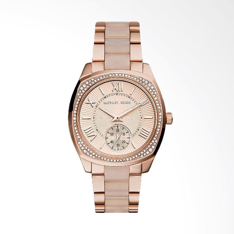 Michael Kors MK6135 Bryn Analog Display Quartz Two Tone Women's Watch Jam Tangan Wanita - Rose Gold