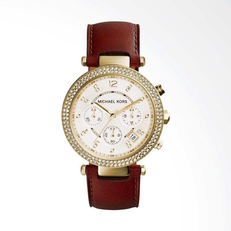 Michael Kors MK2249 Parker Display Quartz Women's Analog Watch - Brown