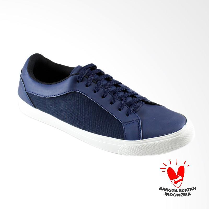 Dane And Dine Band Sneaker Sepatu Pria - Navy