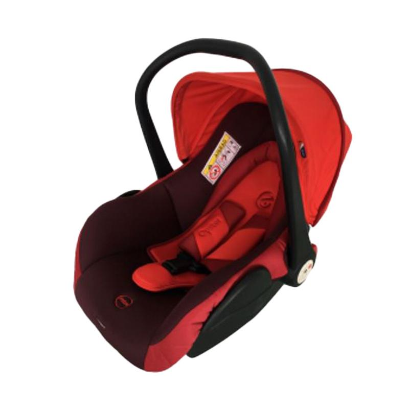 Oyster Car Seat Baby Carrier - Burgundy Red [0-15m]